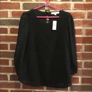 Loft Black Blouse with Embossed design on Front